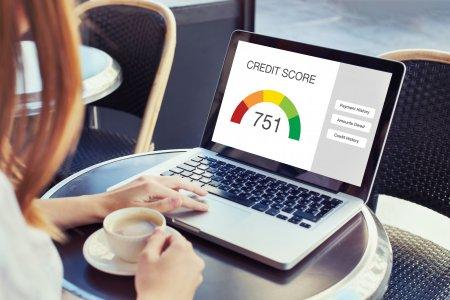 Creditscoreconceptonthescreenofcomputer
