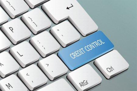 Creditcontrolwrittenonthekeyboardbutton